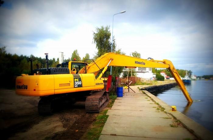 Przebudowa dna Nabrzeża Mostowego w Łebie